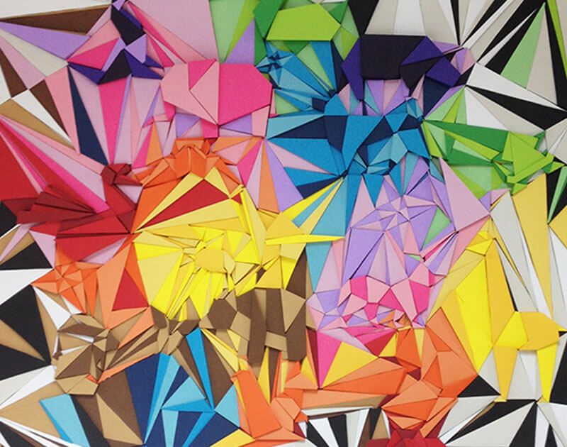 Creation Origami Installation by Riette Error