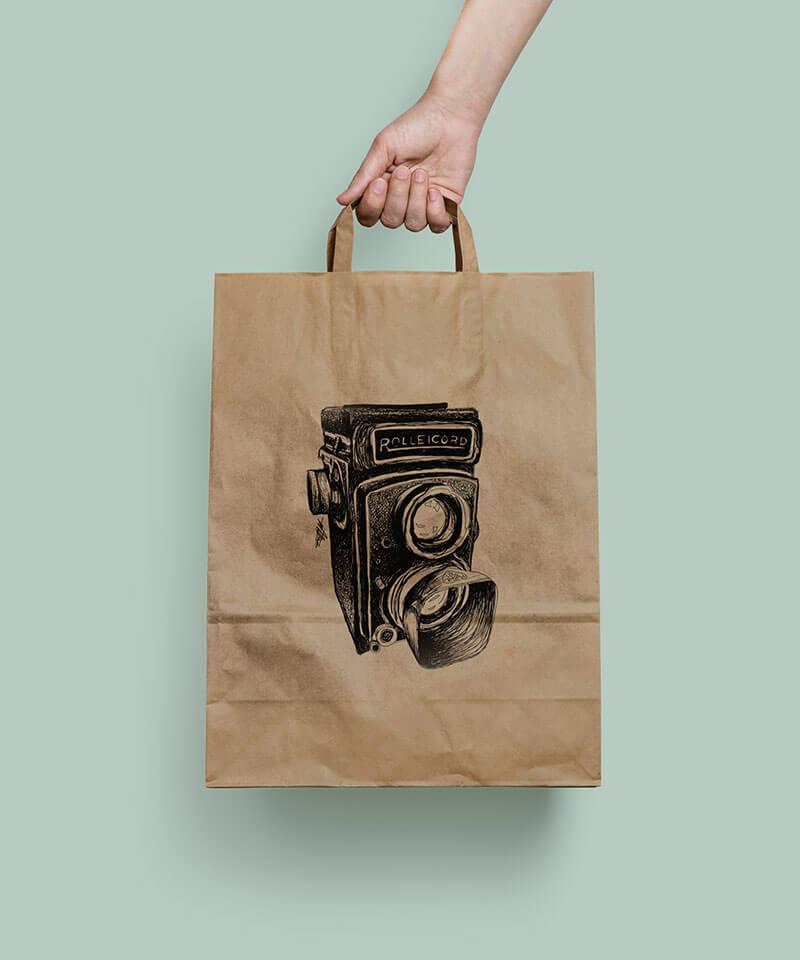Package Designer for Orms Camera Bag Illustrations Riette Error