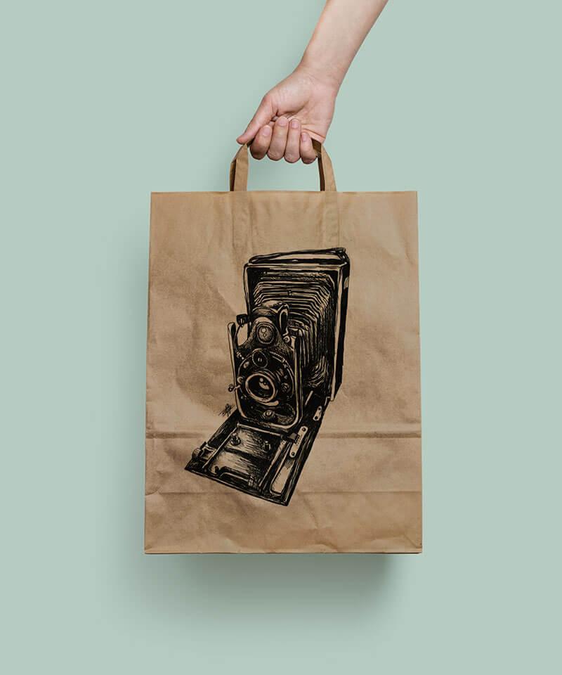 Orms Camera Bag Illustrations