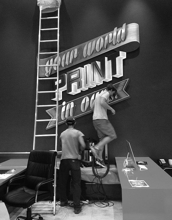 Aluminium Lettering Installation