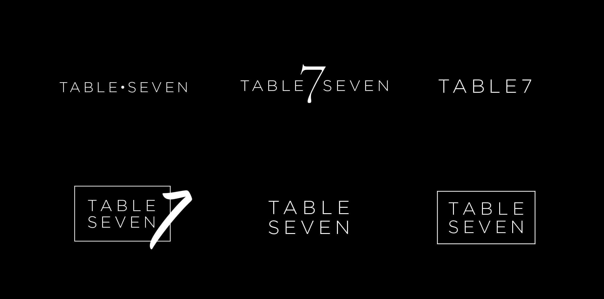 Table Seven Logo and Website Design