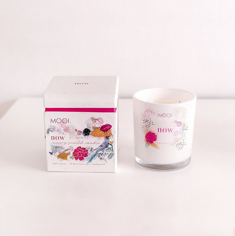 Mooi Leven Candle Packaging Design and Illustration