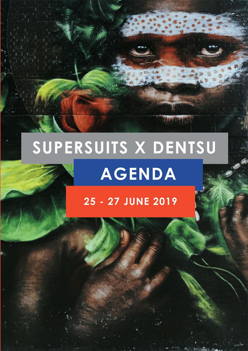 Dentsu Aegis Media Supersuits Course Logo Design by Riette Error
