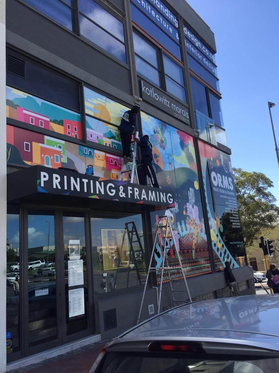 Orms Mural Illustration Window Vinyl & Van Artwork by Riette Error